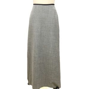 J Crew Wool Skirt Long Straight Lined Gray